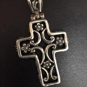 Vintage Sterling Silver Cross Pendant